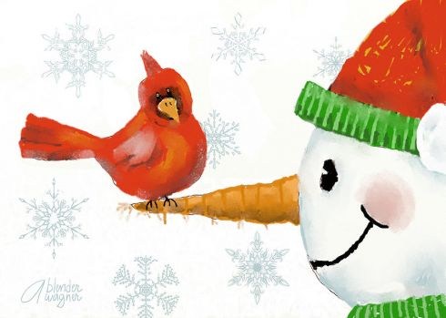 snowman-and-the-cardinal-arline-wagner