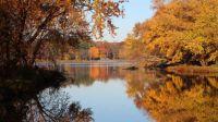 autumn on the Cedar River, near Cedar Rapids, Iowa