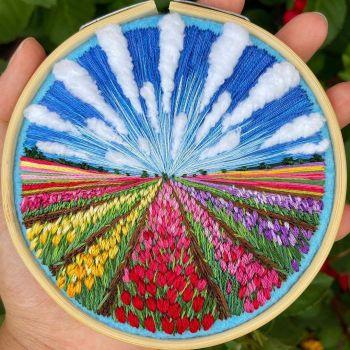 Landscape Embroidery - Flower fields