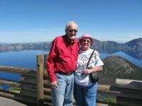 Bob and me at Crater Lake, Or