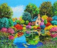 Flowered Pond - larger