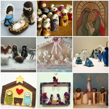 Friday Inspiration - handmade nativities by merwing little dear on flickr