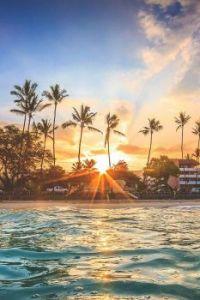 Beautiful Hawaiian sunrise