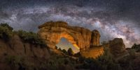 Arches under an Arch of Milky Way