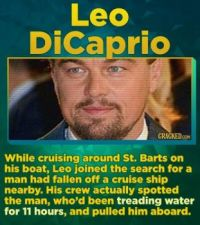 14 Famous Actors Who Have Straight-Up Saved A Life - Leo DiCaprio