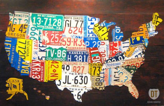 License Plate US Map