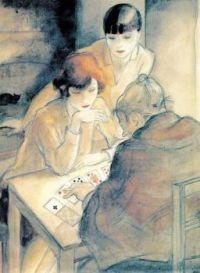 """Jeanne Mammen, """"The Fortune Teller"""", 1928"""