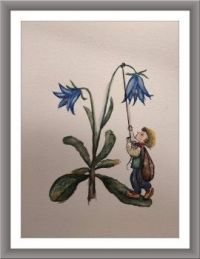 Svatojánský brouček - dceřino malování...  Little Midsummer Beetle - daughter painting ...