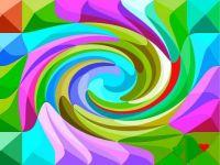Swirled Pastel Pyramids -  Small