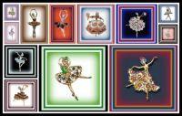 Vintage Ballerina Brooches