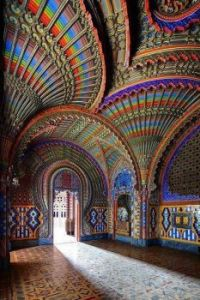 Hall of peacocks... Castle of Sammezzano Florence Italy