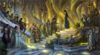 Beren and Luthien in the Court of Thingol and Melian