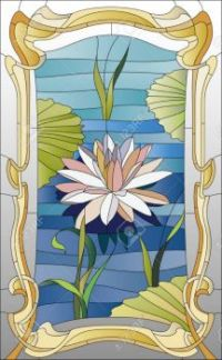 49172197-stained-glass-window-with-lotus-on-the-water-Stock-Photo