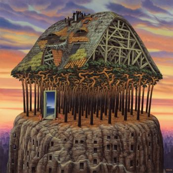 The roof of the world by Jacek Yerka-larger