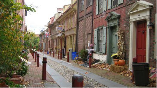 Elfreth's Alley in Philadelphia, Pennsylvania