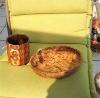 CAN YOU GUESS WHAT WOOD OUR  CUP AND BOWL ARE MADE FROM ?  3 OF 4