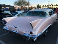 1957 Cadillac Eldorado Seville rear at Freddy's Cruise In on 2018-1-25
