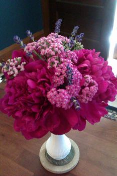 Peonies, Yarrow and Lavender