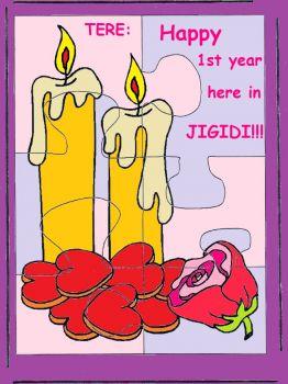 TERE Feliz Primer Cumple en Jigidi!!!