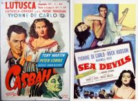 Yvonne DeCarlo ~ Casbah ~ 1949 and Sea Devils ~ 1953
