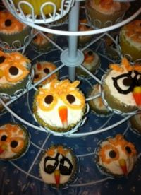 Owl Cupcakes For Lela