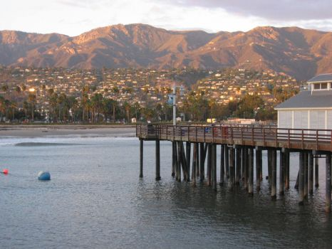 Santa Barbara from wharf