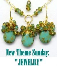 "New Theme Sunday: ""JEWELRY""  I do love turquoise, my favorite color.  ENJOY"