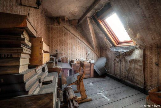 Attic in an old house