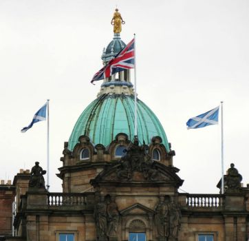 Dome of the Bank of Scotland in Edinburgh