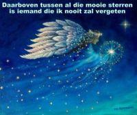 Boven bij de sterren zijn velen die ik nooit zal vergeten.
