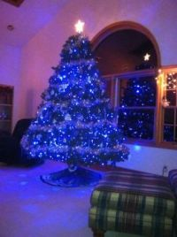 my blue christmas tree