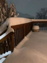 Tom's deck after 10 inches of snow Jan. 2021