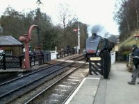 Sir Nigel Gresley entering Goathland Station