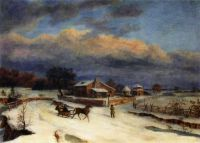 """Kennett Square in Winter""-Thomas Birch"