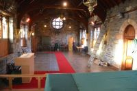 Church emptied for roof works