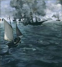Édouard Manet—The Battle of the USS Kearsarge and the CSS Alabama, 1864