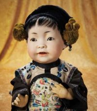 Bisque Chinese Baby,  by Kestner in Fine Antique Costume