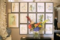 A series of works by Jean Cocteau at the Kenzo estate auction.