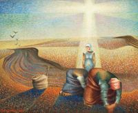 Potato Field at Home - Erik Olson, 1941