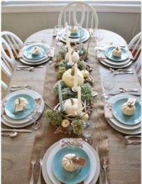 Coastal table settings