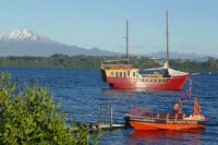 Gulet on Lake Llanquihue, Chile