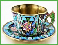 Antique  Russian  Tea  Cup  &  Saucer