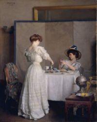 """William McGregor Paxton, """"Tea Leaves"""""""