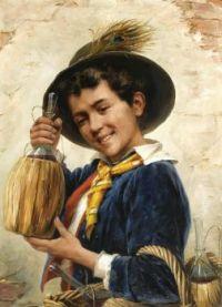Gérard Portielje (Belgian, 1856–1929), The Young Chianti Seller