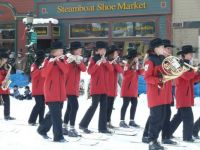 Steamboat Springs Marching Band...on Skis!