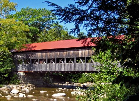 albany covered bridge, conway, new hampshire