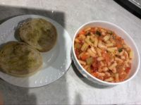 Minestrone and English muffins :)