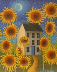 Sunflower Painting - Mary Charles