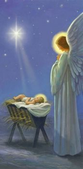 Angel watching over the Savior
