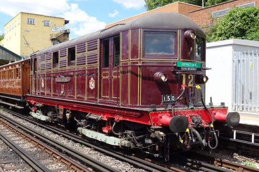 Vintage train on the London Underground